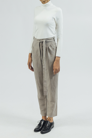 Linen/trouser - Taupe