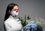 Durable Unisex Fashion Face Mask - White Floral