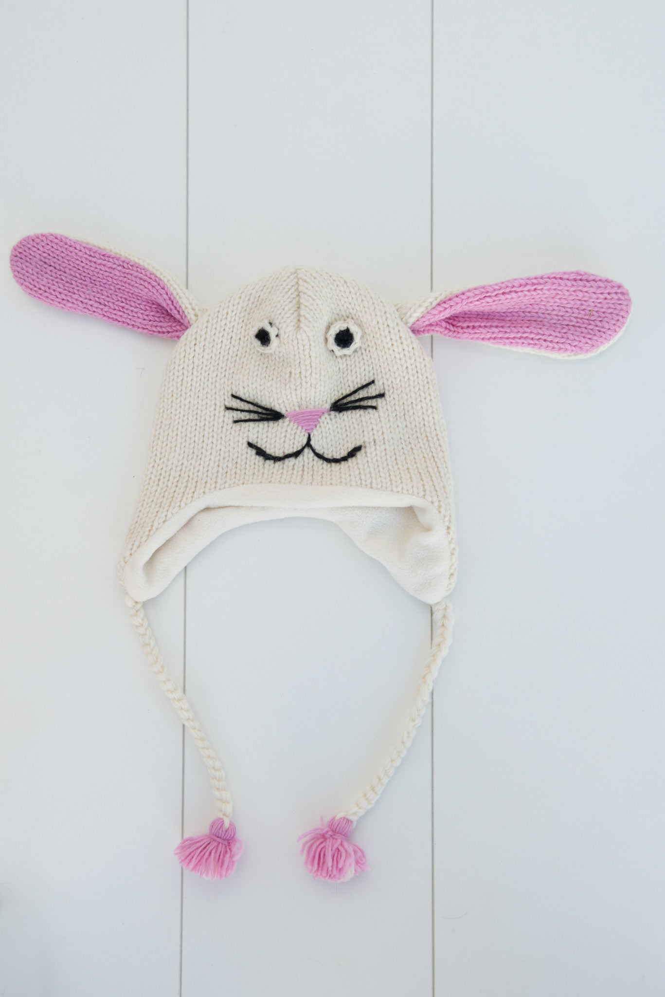 Hand-knitted Bunny Beanie