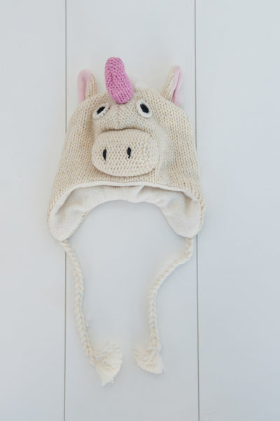 Hand-knitted Unicorn Beanie