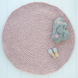 Felt Ball Rug (Rose Blush)