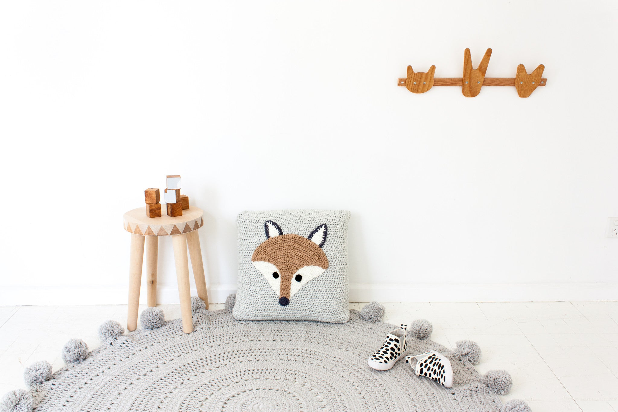Handmade Mr Fox Cushion