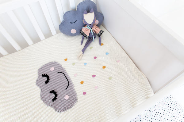 CLEARANCE: Knitted Blanket (Sleepy Cloud)