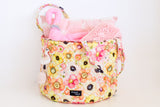 CLEARANCE: Quilted Storage Hamper (Spring Floral)