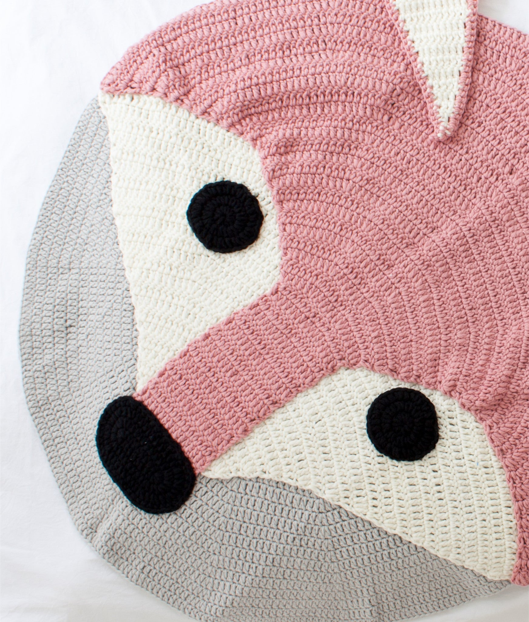 Crochet Playmat (Pink Fox)