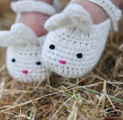 Handmade Mary-Jane Bunny Booties