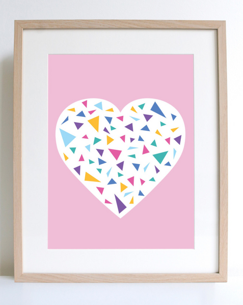 "Sprout & Sparrow Art Print ""Blush Heart"""
