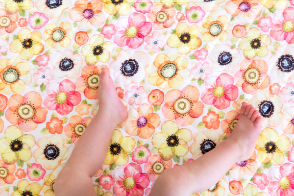 CLEARANCE: Quilted Cot Blanket (Spring Floral)
