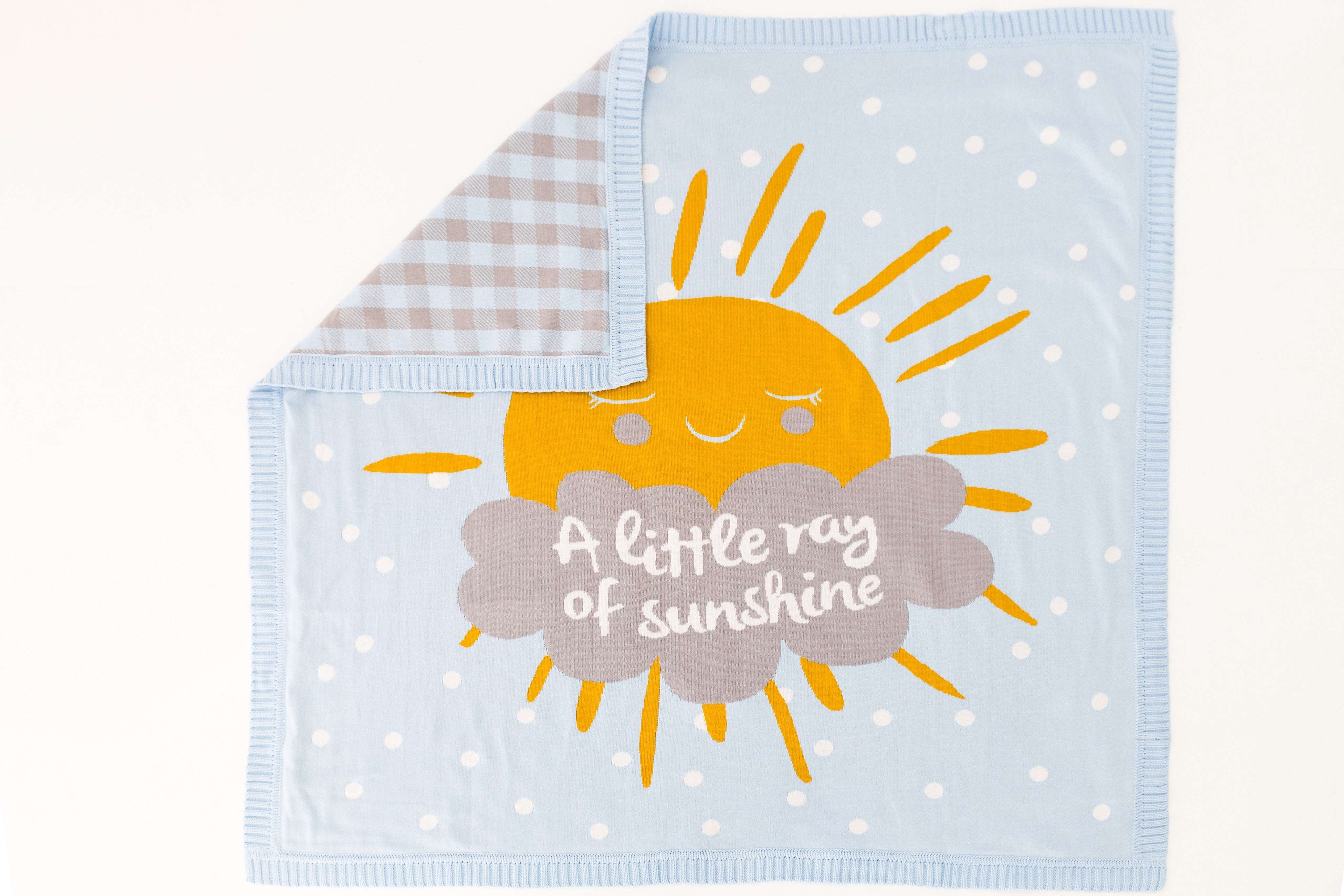 CLEARANCE: Knitted Blanket (A Little Ray of Sunshine)