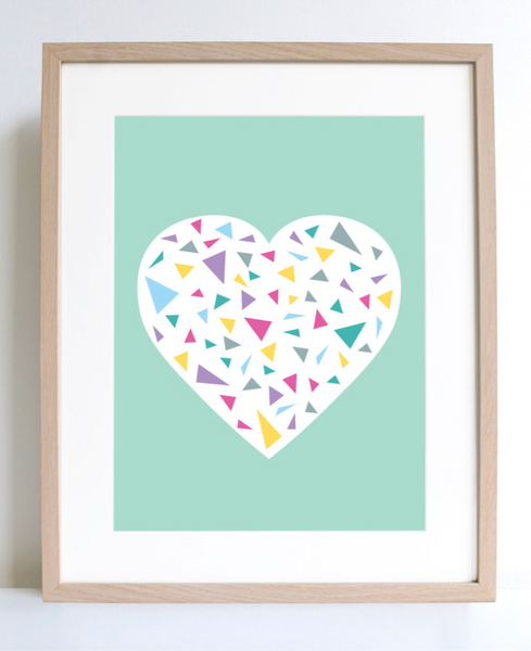 "Sprout & Sparrow Art Print ""Minty Heart"""
