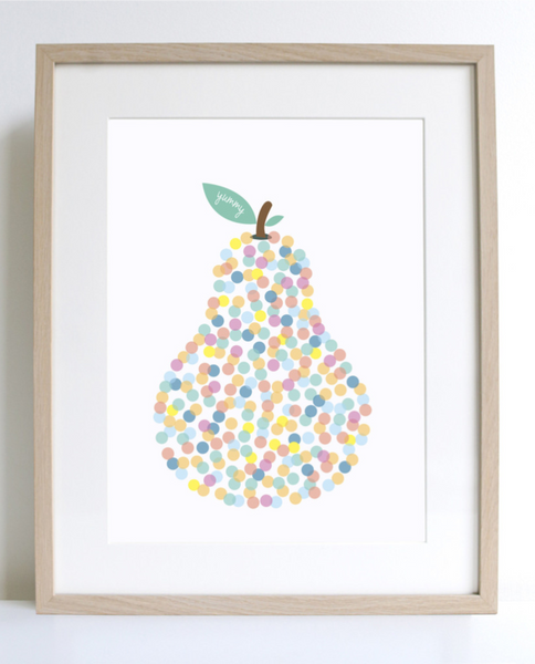 "Sprout & Sparrow Art Print ""Yummy Pear"""