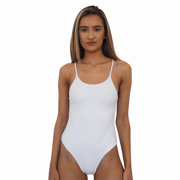 BYRON ONE PIECE // WHITE - BLUSH