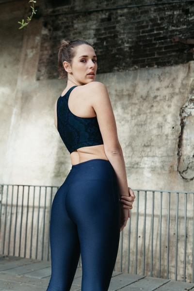 NAYA ACTIVE SWIM // NAVY SNAKESKIN