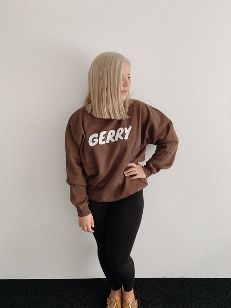 LAZE VINTAGE SWEAT // IN CHOC.