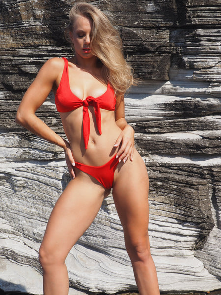 GEORGE RED TIE UP BIKINI SET