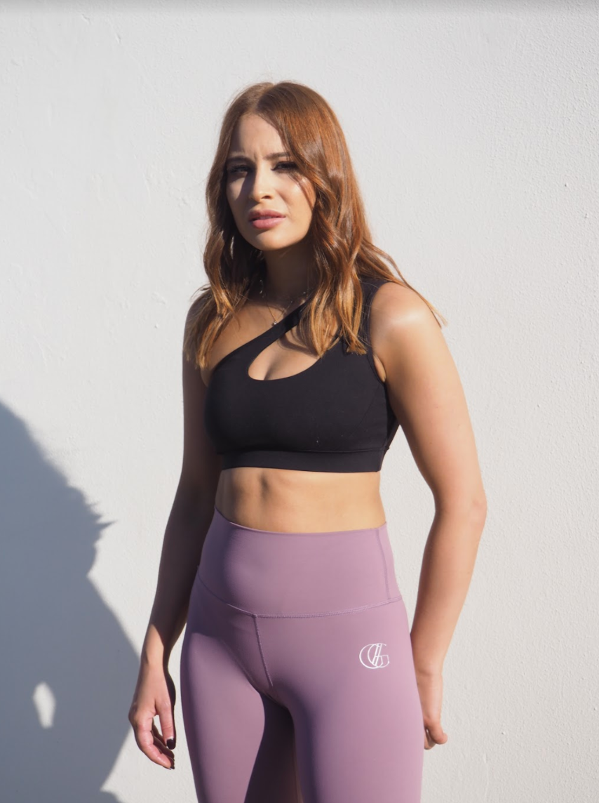 MAUVE CELINE  // HIGH WAIST ACTIVE LEGGINGS