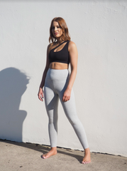 CELINE  // MARBLE GREY MID WAIST LEGGINGS