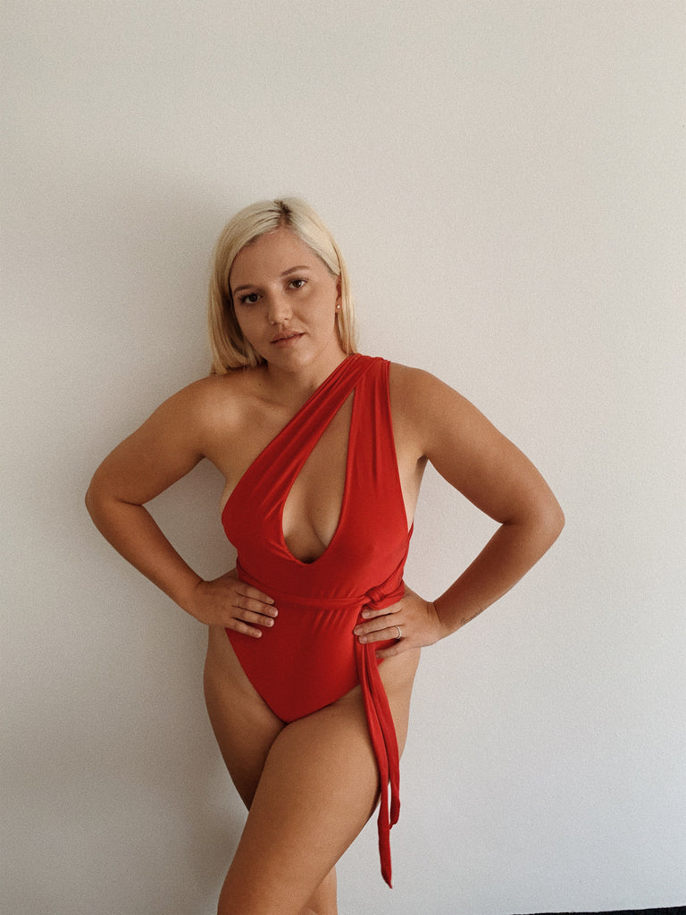 LILAH ONE PIECE // RED METALLIC