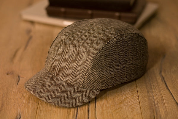 Velo/City Cap - Wool Herringbone #01