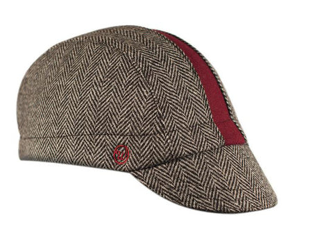 "The ""Cardinal"" Wool Herringbone Cap"