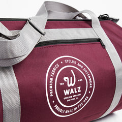 "Walz-Brand Canvas ""Boom"" Bag #05 - Deep Red"