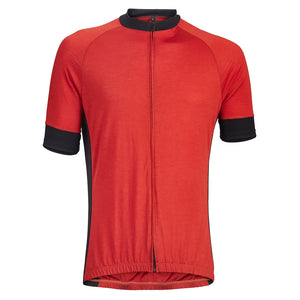Flare Red Merino Wool Jersey