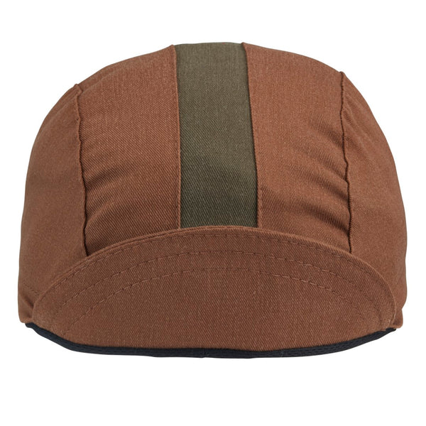 *NEW* Nutmeg/Olive Cotton 3-Panel Cycling Cap