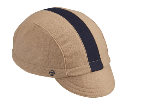 Camel/Navy Wool 3-Panel