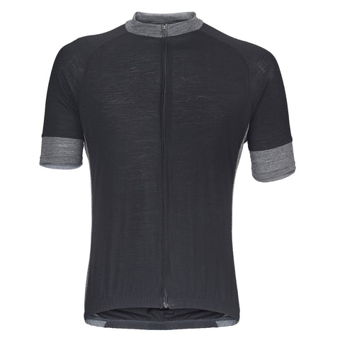 Midnight Black Merino Wool Jersey