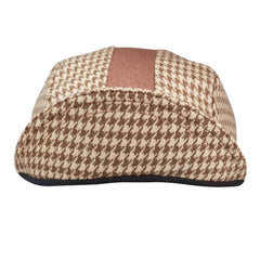 Tan Houndstooth Wool 3-Panel