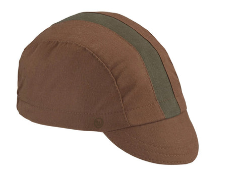 Nutmeg/Olive Cotton 3-Panel Cycling Cap