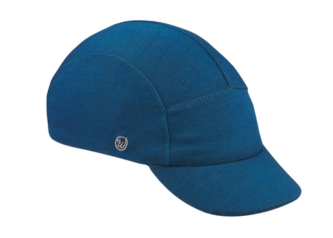 Velo/City Cap - Blue Merino Wool
