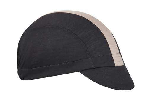 Black/Grey Merino 3-Panel Cap