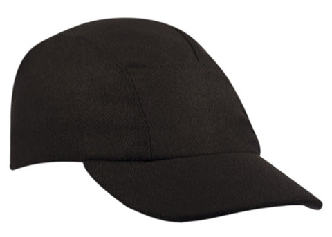 Black Wool Running Cap