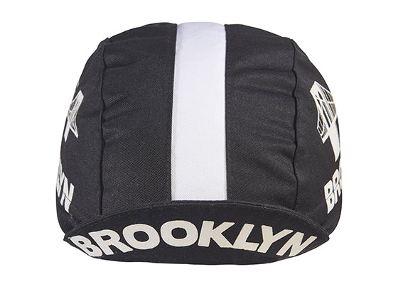 Brooklyn Black Cotton Cycling Cap