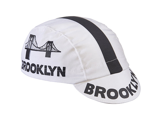 Brooklyn White Cotton Cycling Cap *NEW*