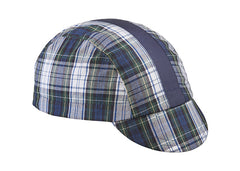 Green/Blue Stripe 3-Panel Plaid Cycling Cap