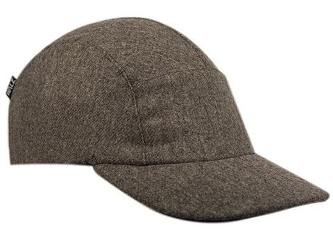 Grey Wool Running Cap