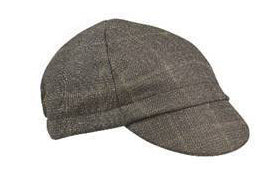 Brown Plaid Wool 4-Panel