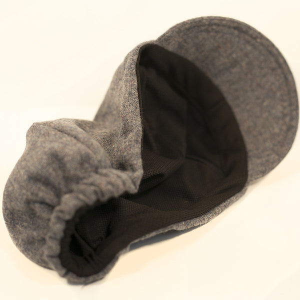 Black Tweed/Black Wool 3-Panel
