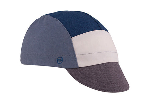 Cool River/Heather Blue/Heather Grey 5-Panel Cotton Cycling Cap