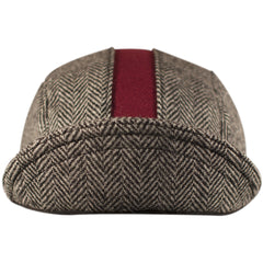 "The ""Cardinal"" Herringbone Cap"