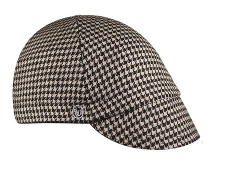 Black Houndstooth Wool 4-Panel