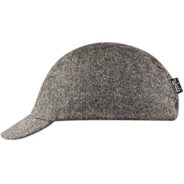 Velo/City Cap - Black Tweed Wool