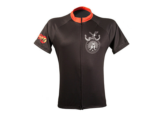Bike Snob Black/Orange Jersey