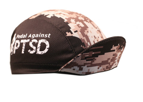"Cap For A Cause ""Pedal Against PTSD"" Technical Cycling Cap"