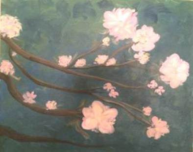 "Sep 9, Wed, 7-10pm ""Blossoms"" Public Wine & Paint Class in St. Charles"