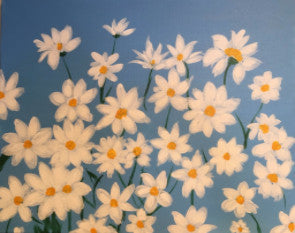 "Apr 27, Wed, 6-9pm ""Daisies"" Open Wine and Painting Class in St. Charles"