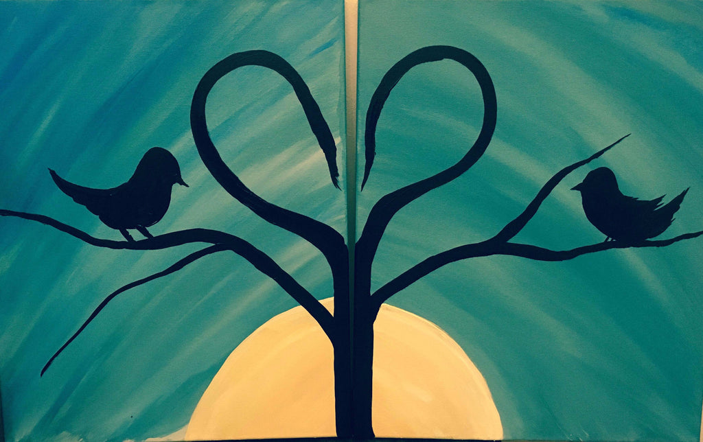 "May 13, Fri, 7-10pm ""Date Night Lovers"" Open Wine and Painting Class in St. Charles"