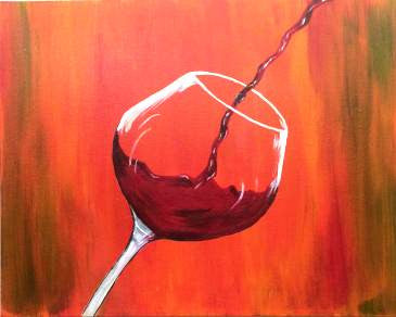 "Feb 14, Sun, 6-9pm ""First Glass"" Open Wine and Painting Class in St. Charles"